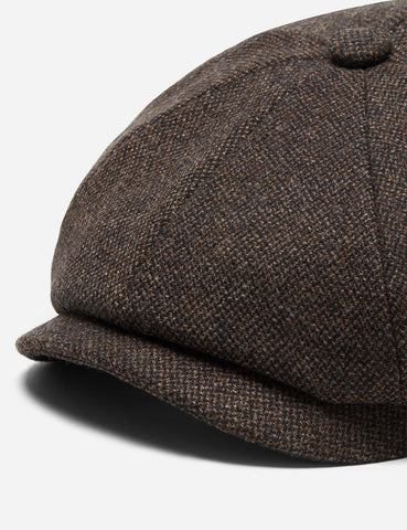 5e5a11e7961 ... Stetson Hatteras Donegal Newsboy Cap (Wool Mix) - Brown