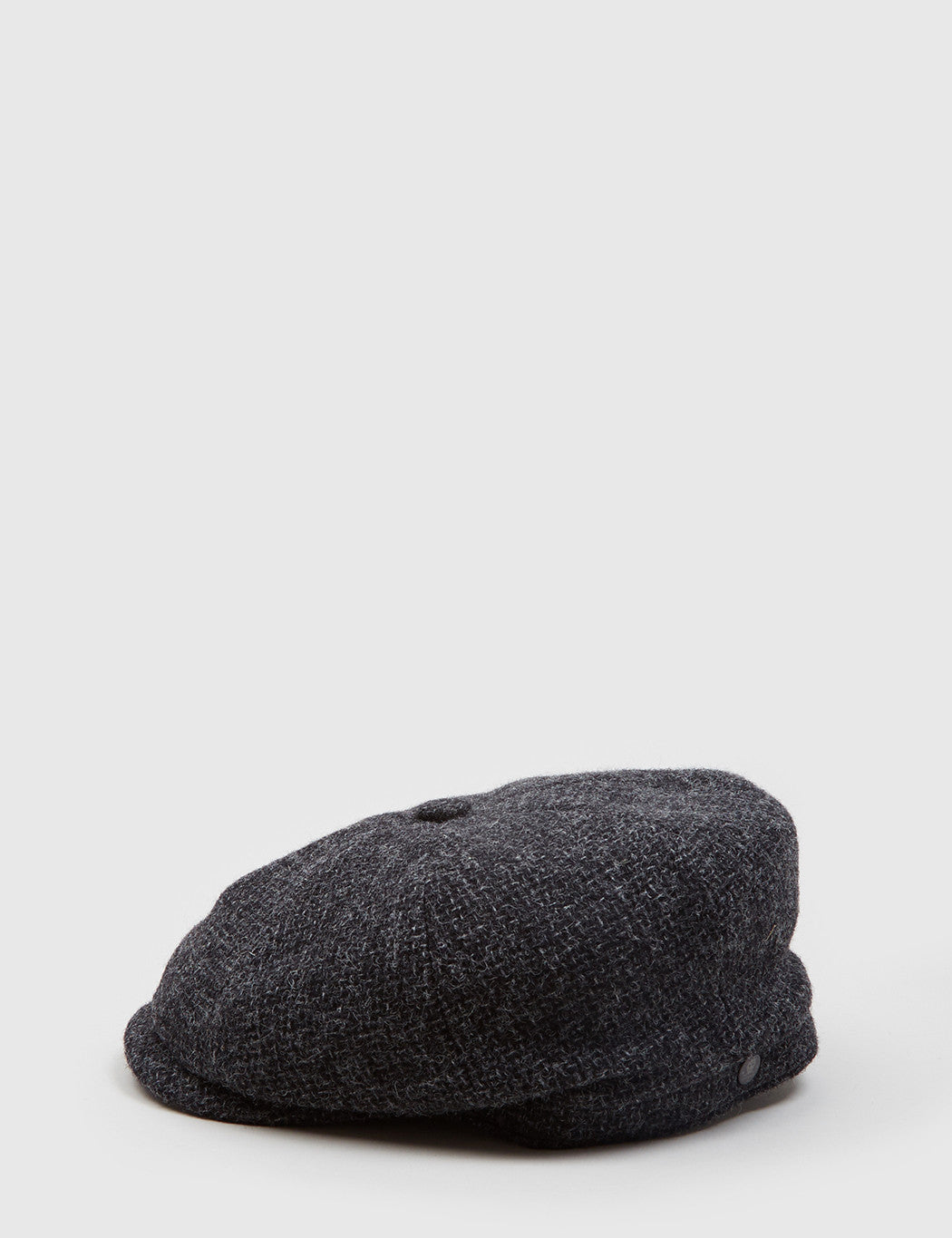 Stetson Hatteras Woven Newsboy Cap (Wool) - Charcoal Grey
