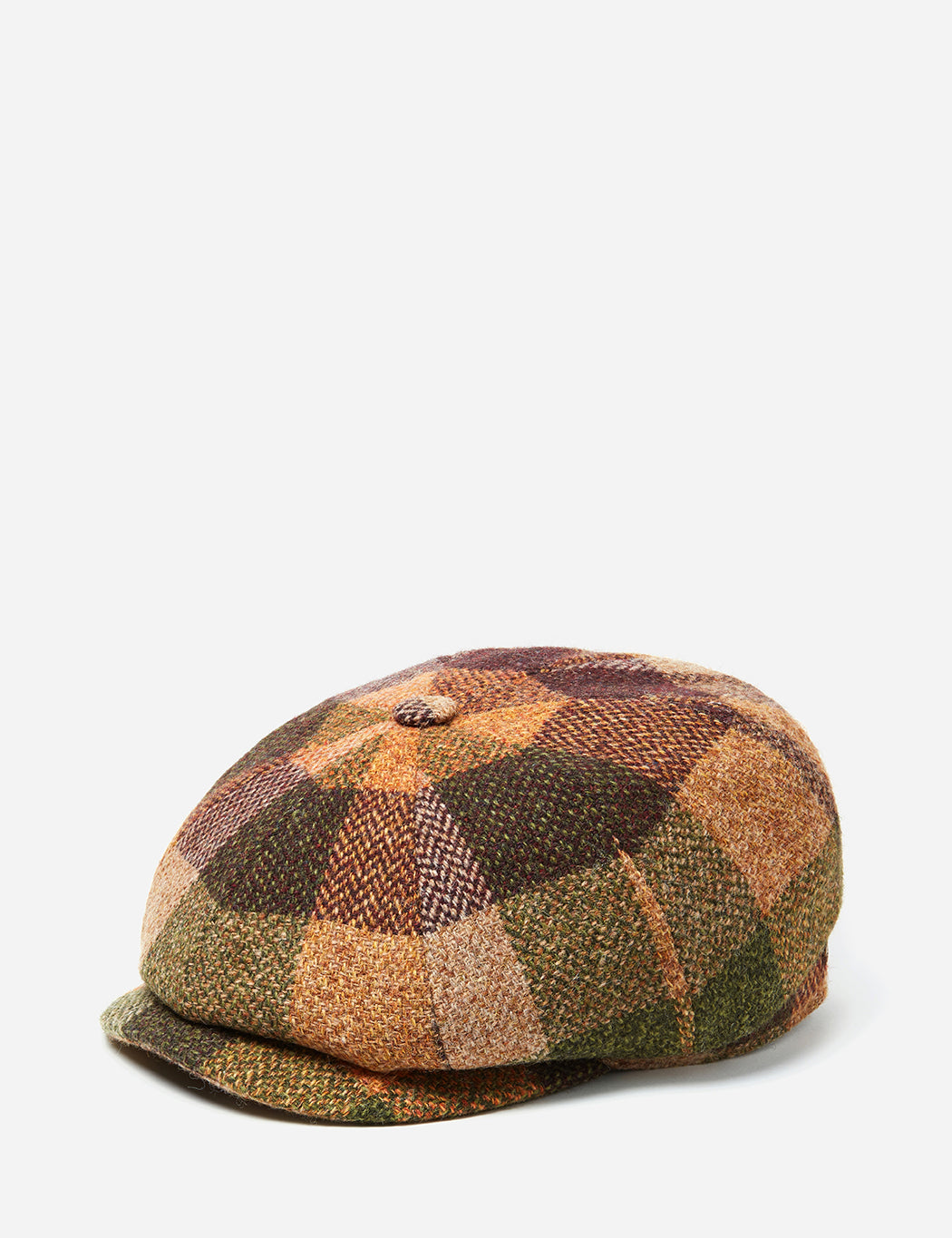 fd66c4797dd348 Stetson Hatteras Check Newsboy Cap (Wool) - Burgundy Mix | URBAN EXCESS.