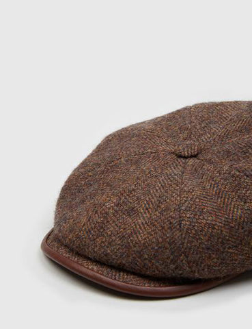 Stetson Hatteras Newsboy Cap - Brown