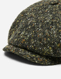 Stetson Hatteras Donegal Newsboy Cap (Wool) - Green/Brown