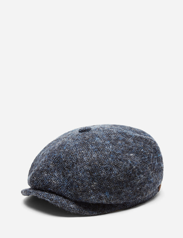 Stetson Hatteras Donegal Newsboy Cap (Wool) - Blue