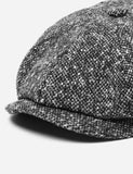 Stetson Hatteras Newsboy Cap (Donegal) - Black/Grey
