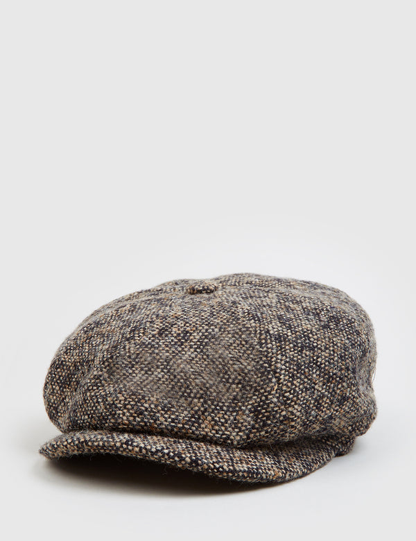 Stetson Hatteras Donegal Newsboy Cap - Brown Mix