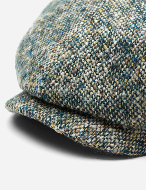 Stetson Hatteras Donegal Newsboy Cap (Wool) - Green Mix