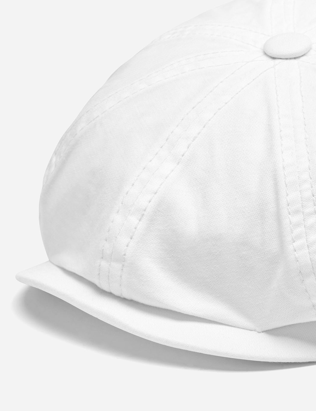 Stetson Hatteras Dyed Newsboy Cap (Cotton) - Cream White