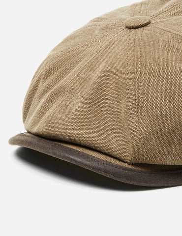 Stetson Hatteras Seward Newsboy Cap (Canvas) - Olive Green
