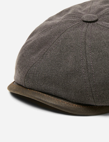 Stetson Hatteras Newsboy Cap (Canvas) - Anthracite Grey