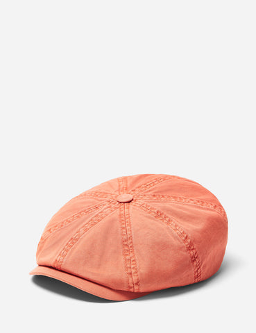 Stetson Hatteras Overdye Newsboy Cap (Cotton) - Terracota Red