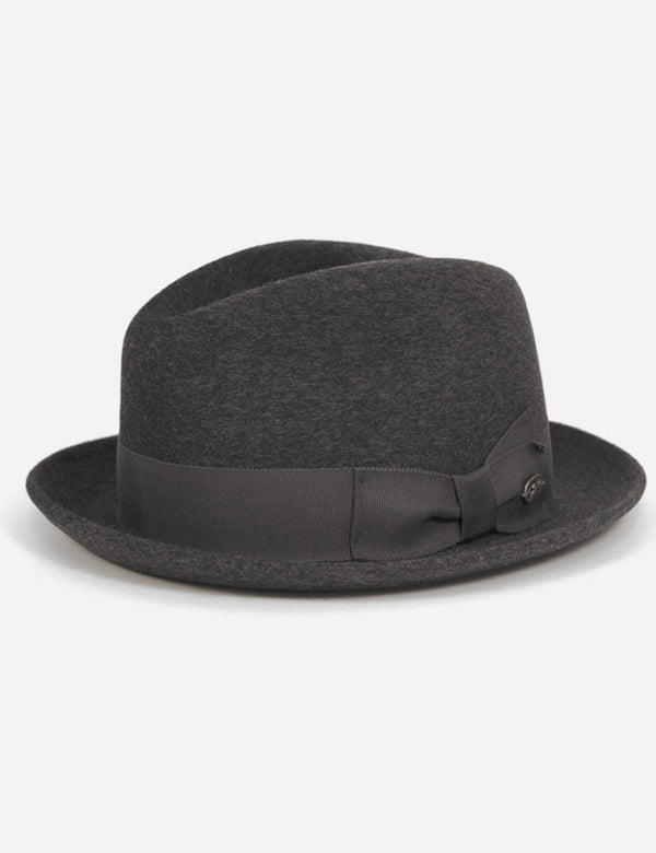 Bailey Riff Fur Felt Trilby Hat - Charcoal Grey