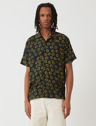 Stan Ray Smiley Batik Shirt - Black