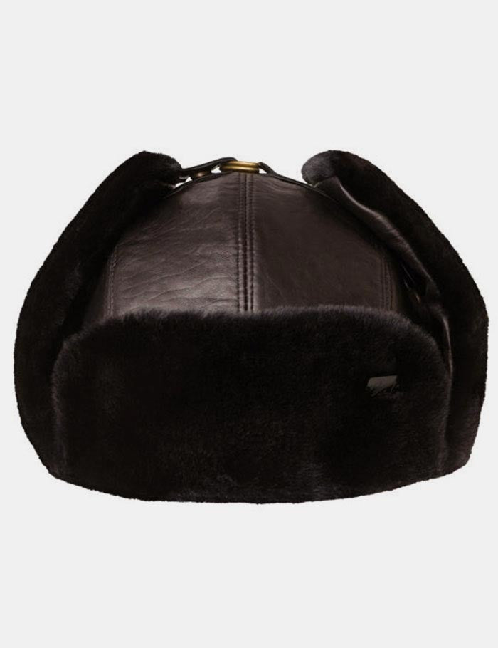 Bailey Vega Fur Leather Trapper Hat - Brown