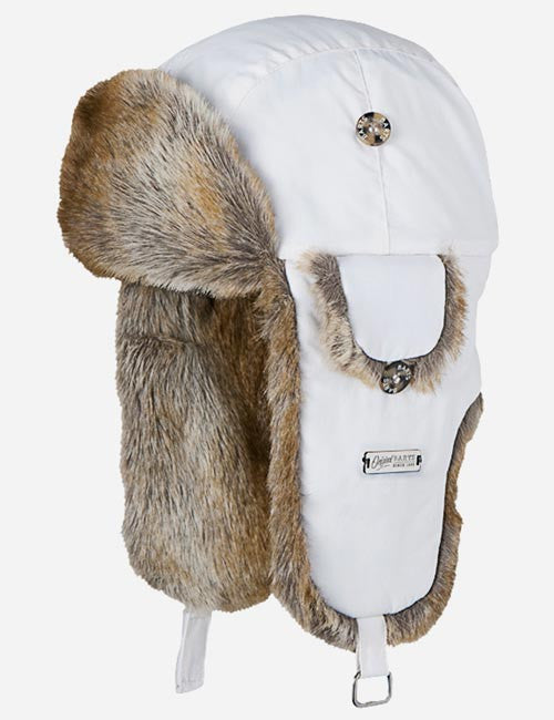 Barts Kamikaze Winter Fur Trapper Hat - White