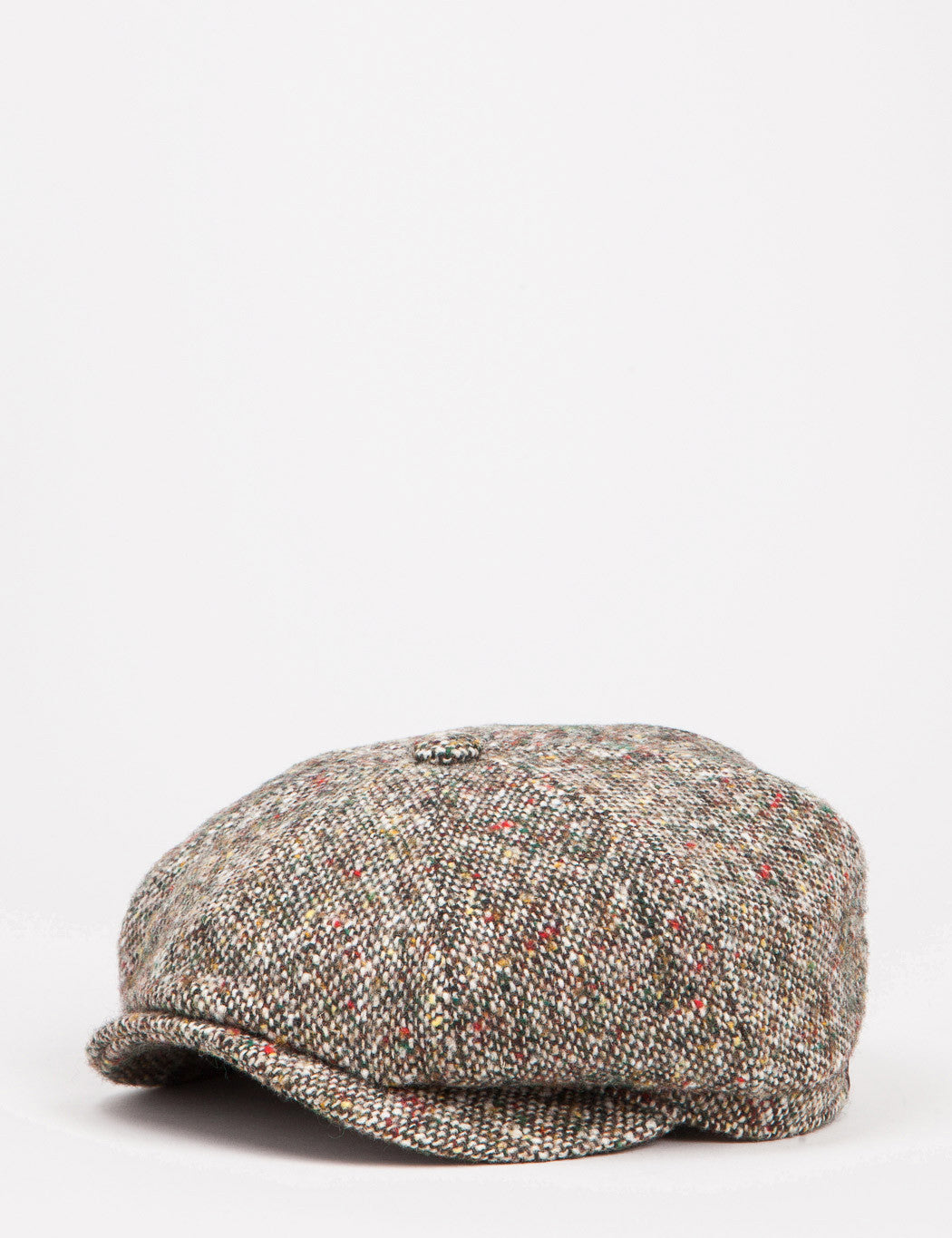 Stetson Hatteras Donegal Newsboy Cap - Brown