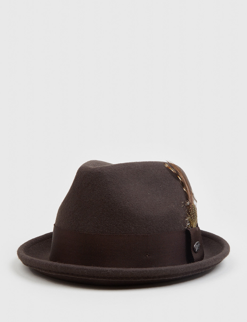 996f3189 Bailey Tino Felt Crushable Trilby Hat - Brown | URBAN EXCESS.