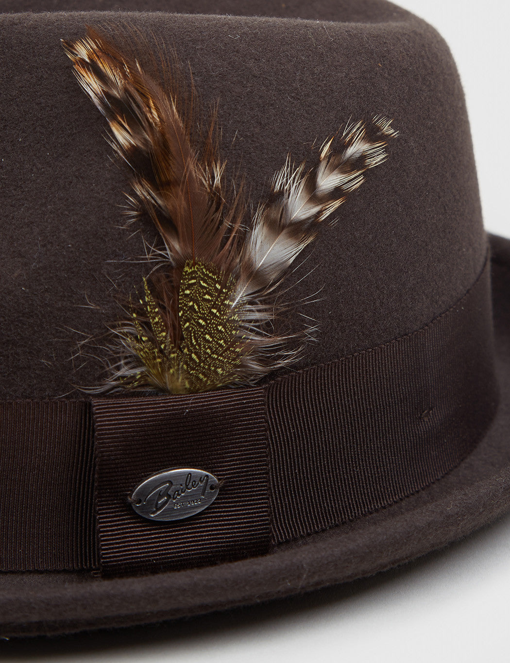 Bailey Tino Felt Crushable Trilby Hat - Brown