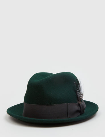 Bailey Tino Felt Crushable Trilby Hat (Wool) - Hemlock Green