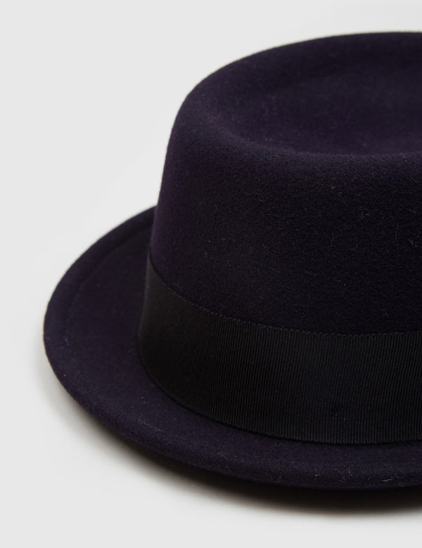 Bailey Darron Trilby Pork Pie Hat - Indigo Blue