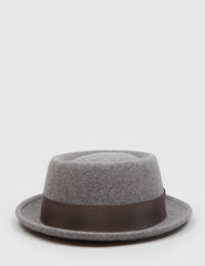 Bailey Darron Trilby Pork Pie Hat - Grey