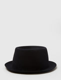 Bailey Crowe Pork Pie Hat - Black