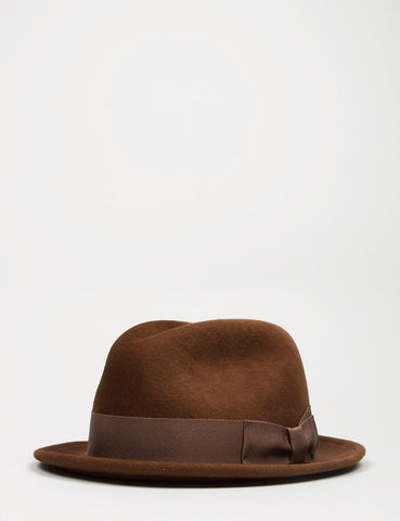 Bailey Riff Felt Tribly Hat - Cognac Brown
