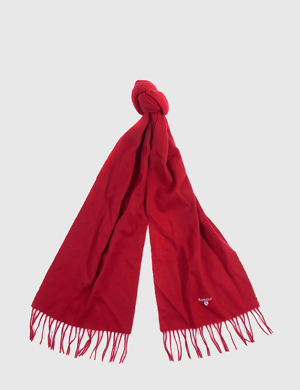 Barbour Plain Lambswool Scarf - Red