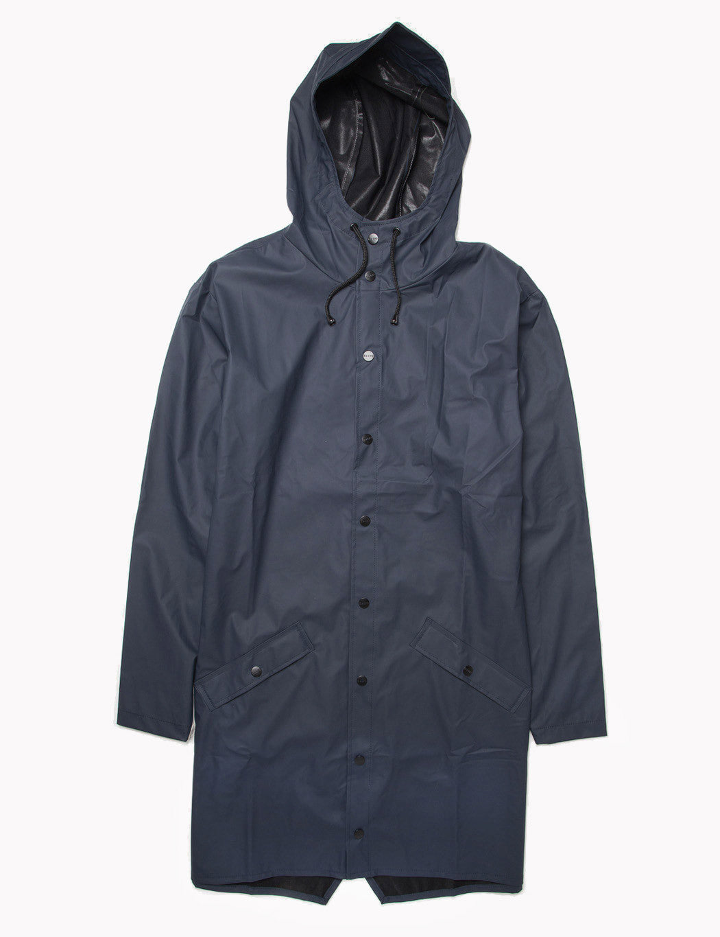 Rains Long Jacket - Navy Blue
