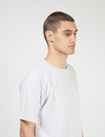 Lifewear USA Made Pocket T-Shirt (8oz) - Ash Grey