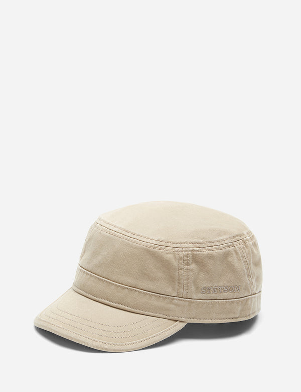 Stetson Gosper Cotton Army  Cap - Dark Beige