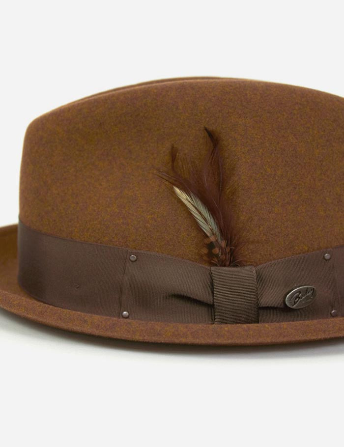 Bailey Tino Felt Crushable Trilby Hat - Russet