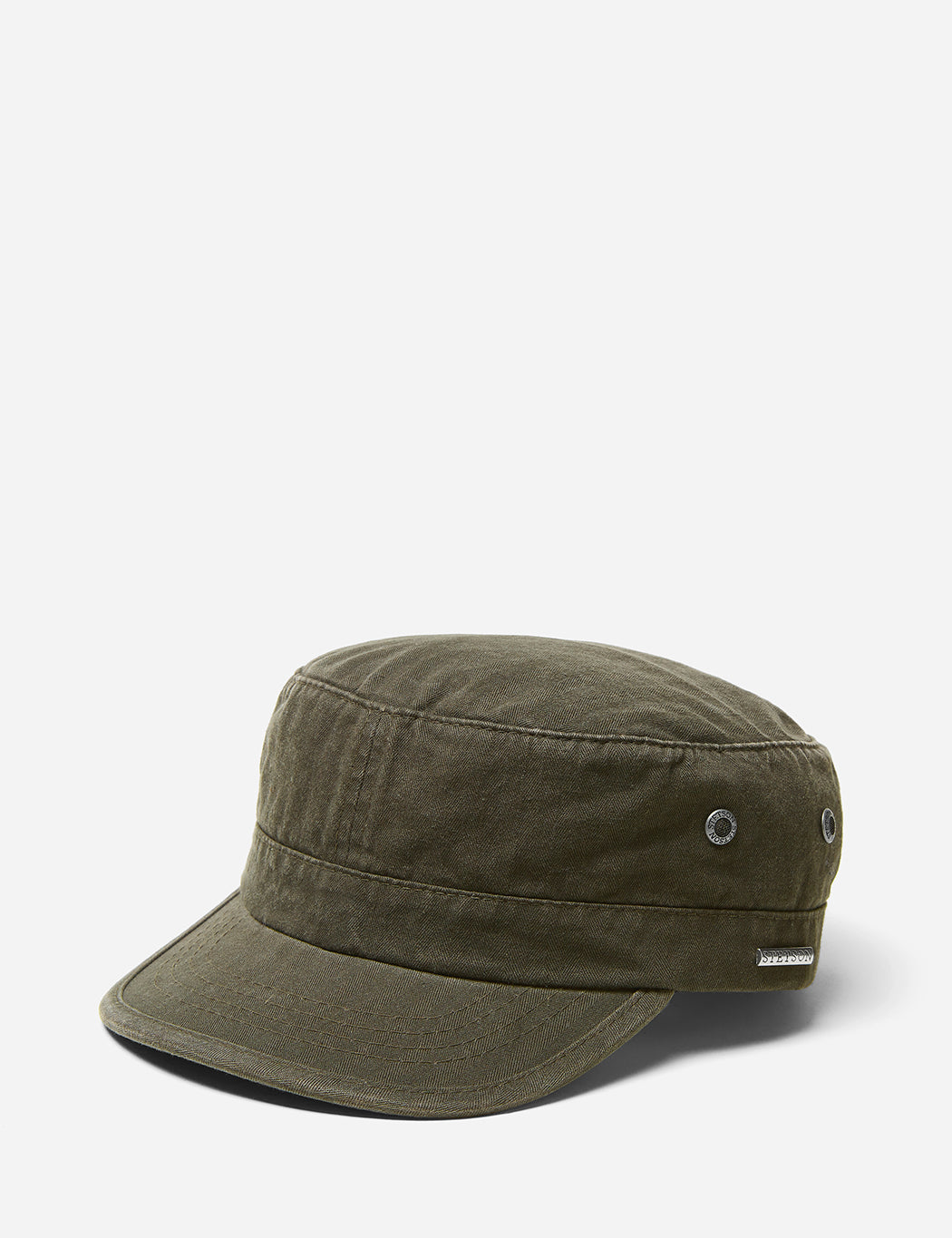 Stetson Army Cap (Cotton) - Washed Olive ... e4a6fc59d8c