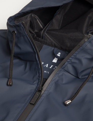 Rains Waterproof Breaker Jacket - Navy Blue