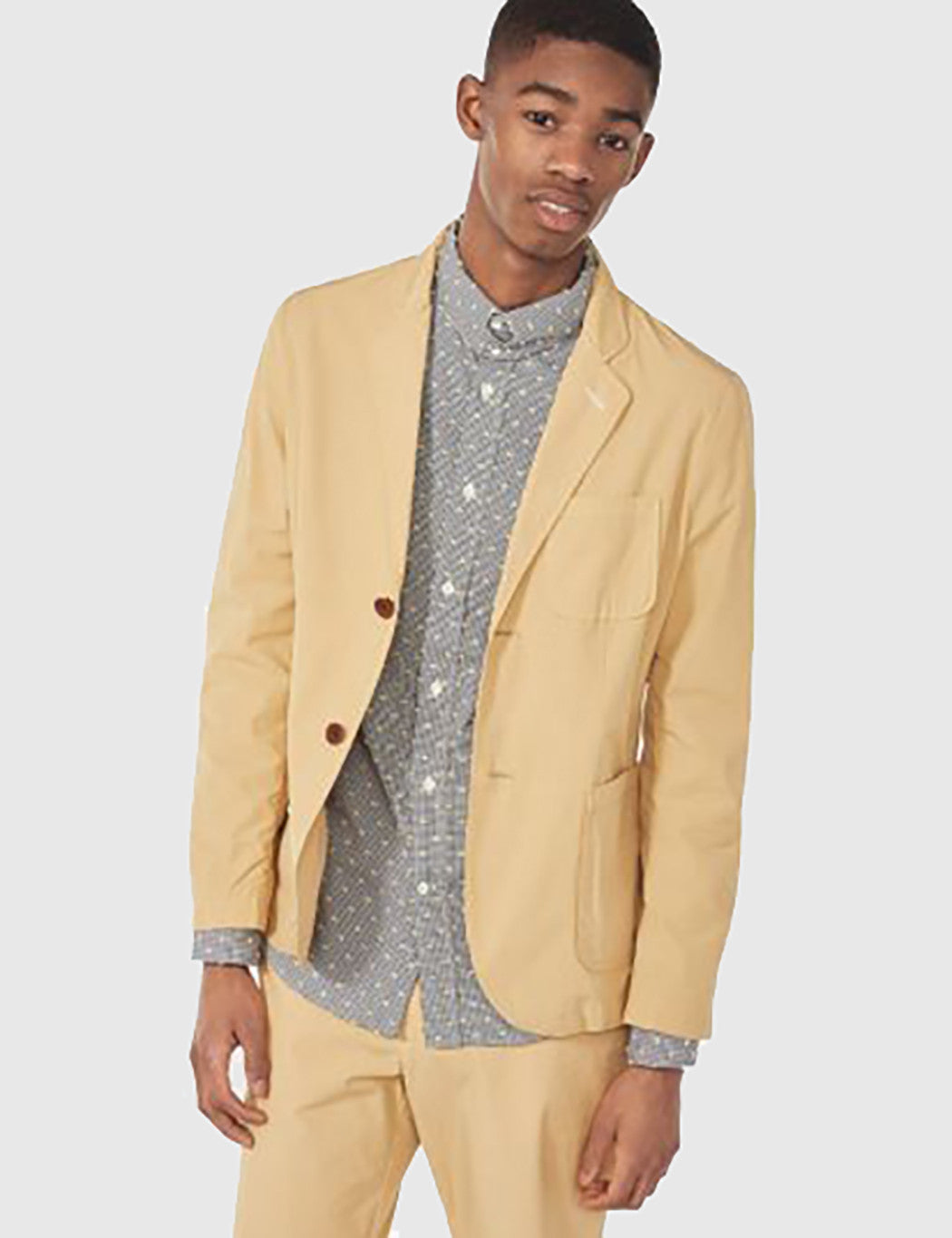 46299abbd Gant Rugger Cotton Blazer Jacket - Warm Almond