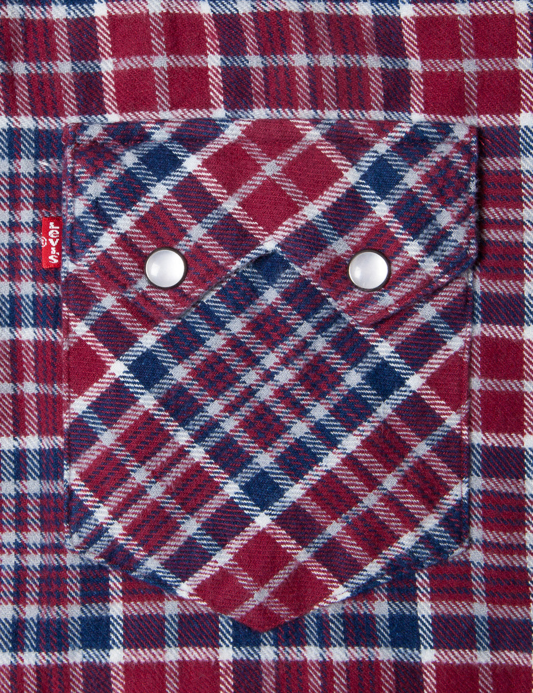Levis Sawtooth Plaid Shirt - Tibetan Red