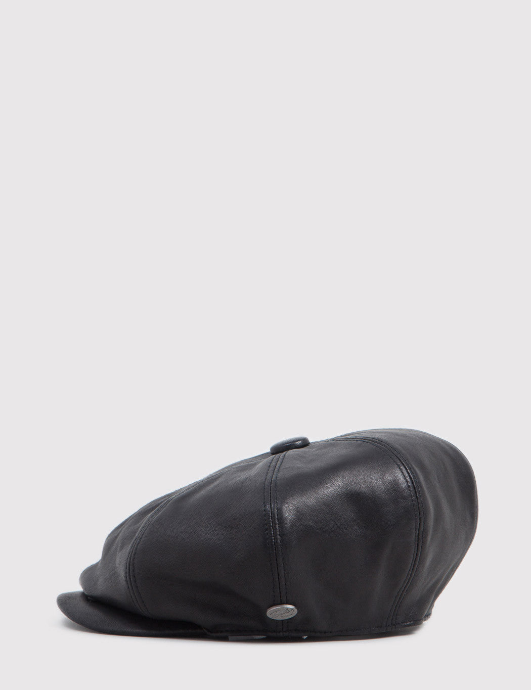 Bailey Noclin Leather Newsboy Cap - Black