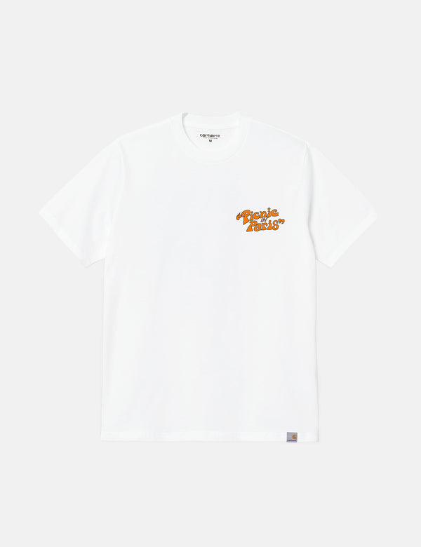 T-Shirt Carhartt-WIP Picnic in Paris - Blanc