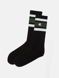 Champion Stripe Ankle Socks - Black/Green/White