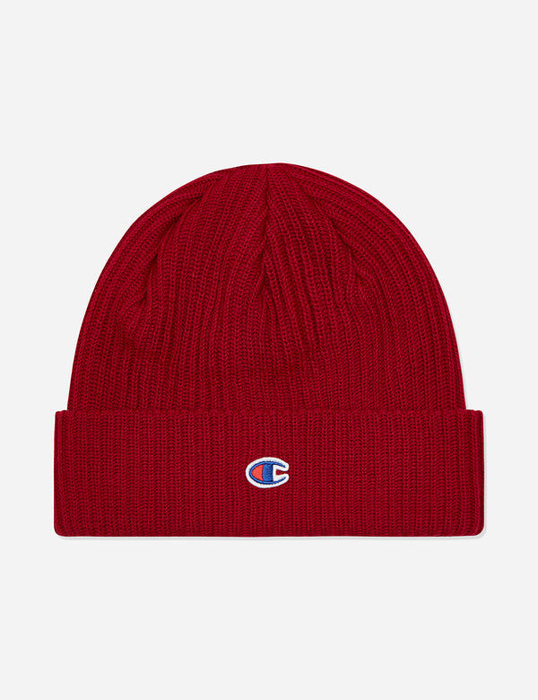 Champion Beanie Hat - Burgundy