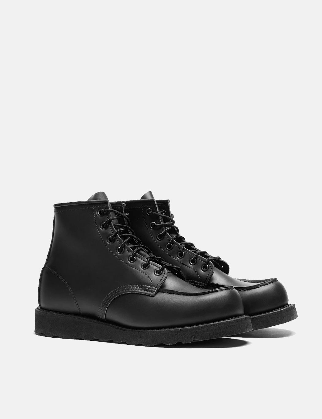 """Red Wing 6"""" Moc Toe Boots (8137) - Skagway Black