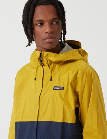 Patagonia Torrentshell Jacket - Navy Blue/Yellow