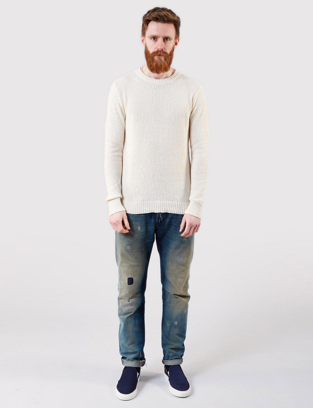 Gant Rugger Textured Sweater - Cream