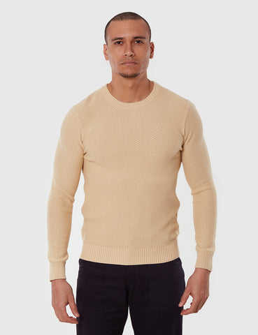 Gant Rugger Textured Knit Jumper - Warm Almond