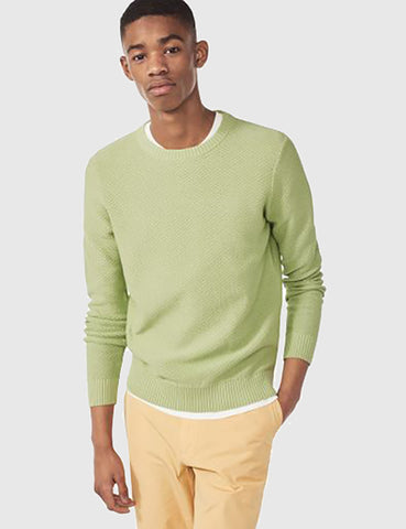 Gant Rugger Textured Knit Jumper - Linden Green