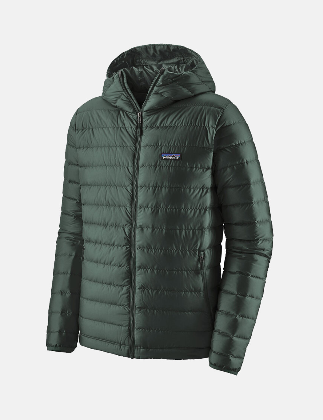 Patagonia Down Sweater Hooded Jacket - Carbon Green