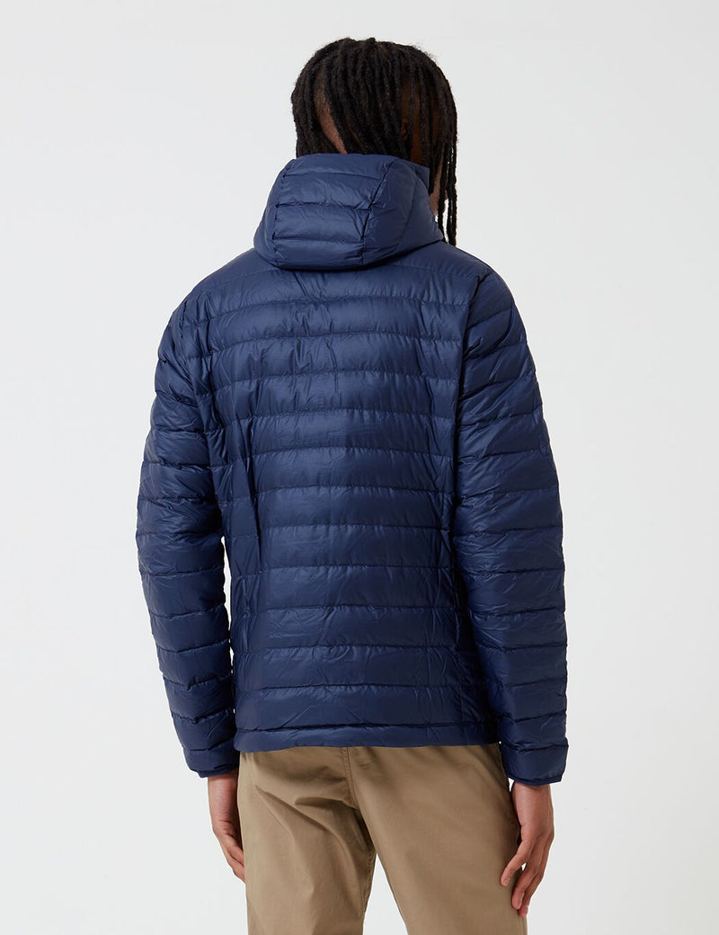 Patagonia Down Sweater Hooded Jacket - Classic Navy Blue