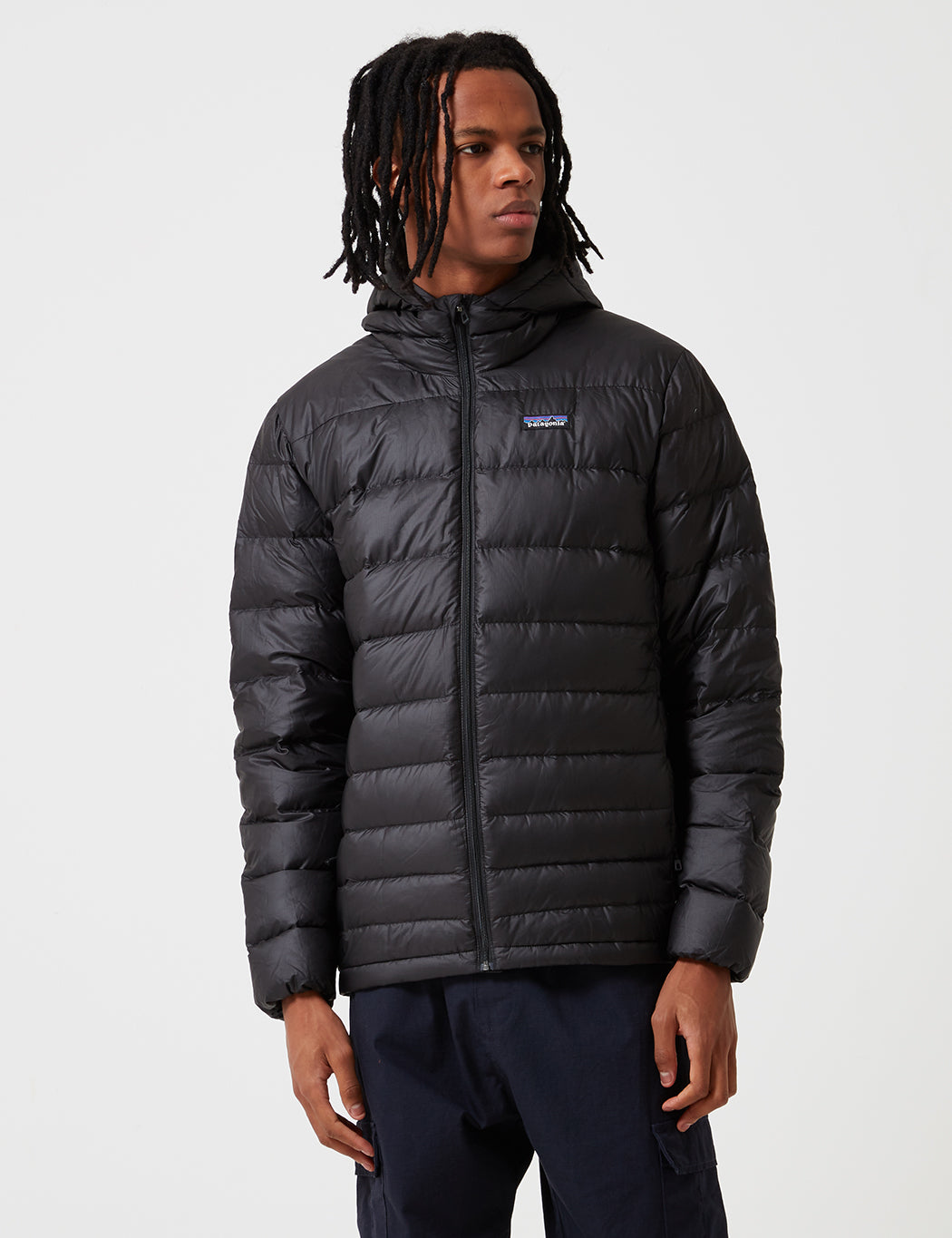 Patagonia Hi Loft Down Hooded Jacket - Black | URBAN EXCESS.