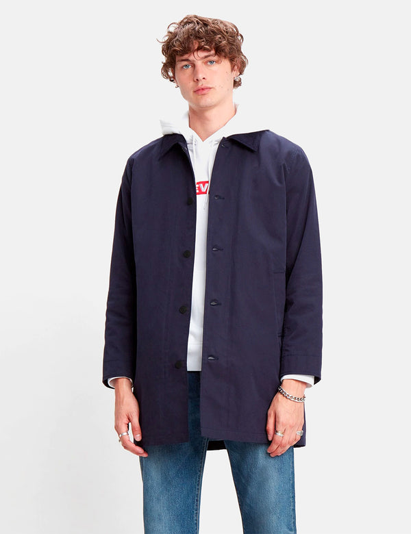 Levis Long Utility Coat - Nightwatch Blue