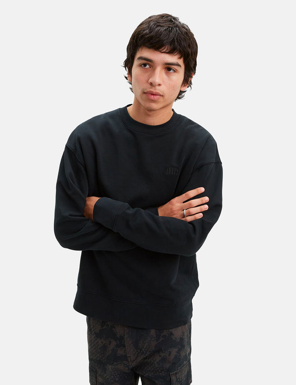 Levis Authentic Logo Crewneck Sweatshirt - Mineral Black