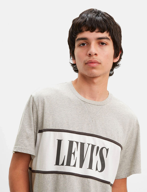 T-Shirt Levis Authentic Color Block - Heather Grey