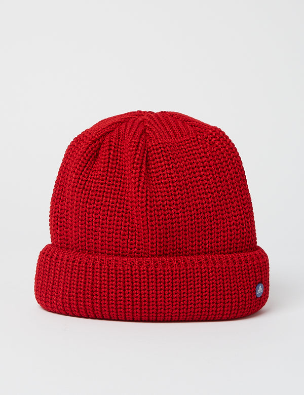 Stetson Hammaburg Wool Beanie Hat - Red